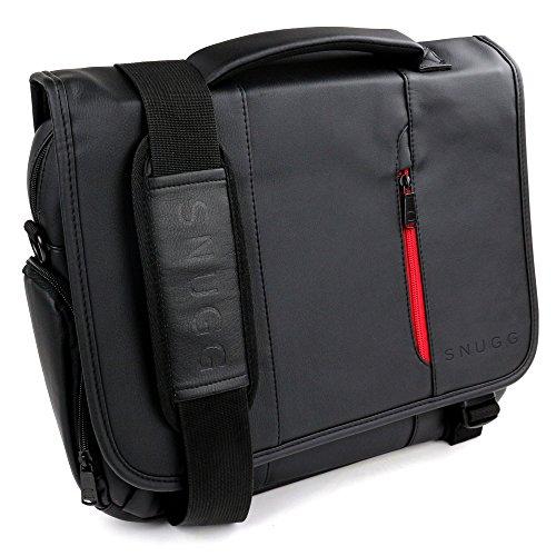 Sac Ordinateur, Snugg 15,6'' Sac Besace PC Sacoche Travail En Cuir Noir Pour Laptop Portable Et Tablette
