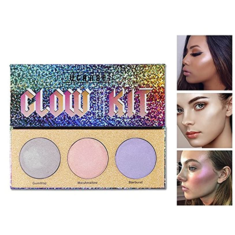 アンカーシール突撃3 Color Chameleon Highlighter Makeup Palette Crystal Sugar Highlighting Bronzer Glow Shimmer Eyeshadow Cosmetic Kit
