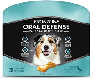Frontline Oral Defense Daily Dental Chews for Medium Dogs