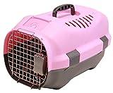 BPS (R) Transportín Rígido para Perro o Gato, Animales Domésticos, Tamaño: 52 x 36 x 32 cm. (Rosa)
