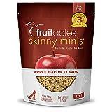 Fruitables Skinny Mini Dog Treats | Healthy Treats for Dogs | Low Calorie Training Treats | Free of Wheat, Corn and Soy | Apple Bacon | 12 Ounces