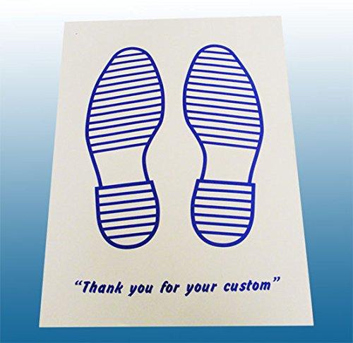 Tappetini usa e getta per auto, di carta, colore: bianco con stampa blu, confezione da 250 pz