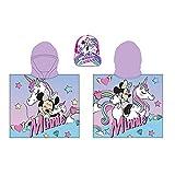 Poncho Toalla de Playa Microfibra Minnie Mouse Unicornio + Gorra con Visera Minnie Mouse, Ideal para Playa o Piscina / Nuevo diseño Unicornio Dreams. Productos Oficiales