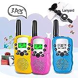 Moglor Walkie Talkie Niños,3 Pack Walky Talky Niños 22 Canales LCD...