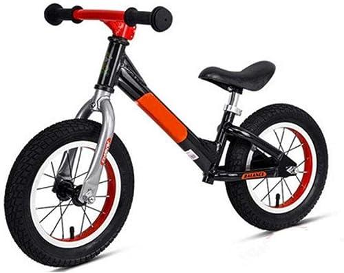 Vélo D'équilibre D'Enfants, Vélo De Course D'équilibre En Aluminium Léger De 12 Avec Des Pneus En Caoutchouc Anti-Dérapant Guidon,Noir,A