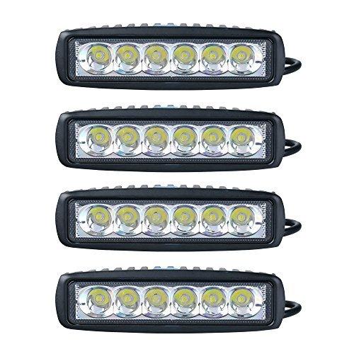 4 x 18 LED projecteur de travail (90°) offroad hella car lED work light 18 auto w lampe de travail 12/24 v offroad hella iP67 noir aTV sUV 4WD