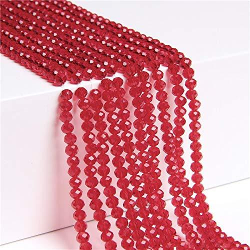 KUQIQI Beads de Cristal Multicolor de 4 mm de 4 mm, Cuentas Redondas Sueltas Redondas, usadas para joyería Haciendo Pulsera al por Mayor (Color : Type 16, Talla : 4mm)