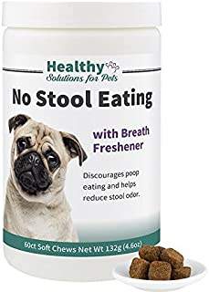 Healthy Solutions For Pets Stool Eating Deterrent for Dogs, Stop Your Dog from Eating Poop with Our Veterinarian Formulated Solution, 120ct, Made in The USA