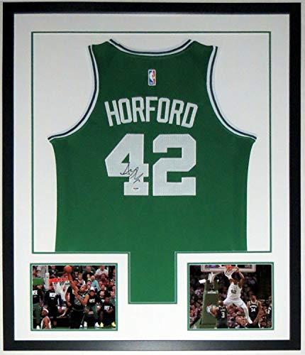 Al Horford Autographed Signed Celtics Jersey PSA DNA COA Custom Framed 8X10 Photo 34X42