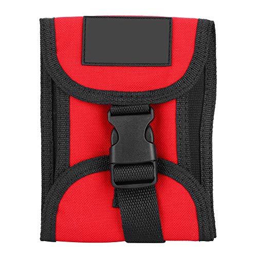 SANON Bolsillo para Cinturón de Buceo de 3 Kg con Hebilla de Liberación Rápida (Rojo)