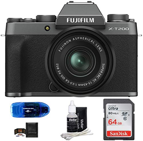 Fujifilm X-T200 Mirrorless Digital Camera with...