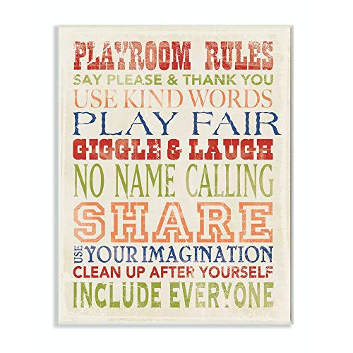 The Kids Room By Stupell Playroom Rules Designer Prints And Wall Art For Kids Room