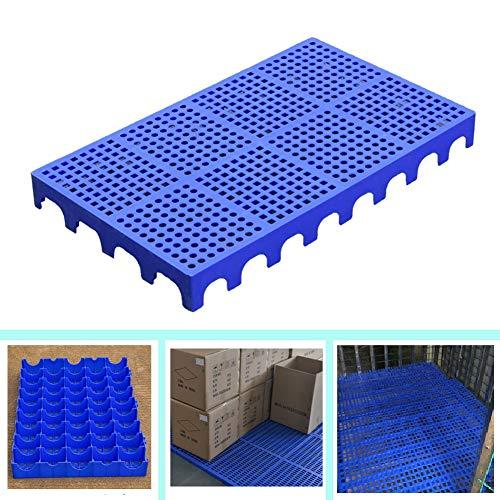 LIANGJUN-Pallet In Plastica Bancali in Plastica Resistente all'Usura Antiscivolo Stabile Conservazione Merce Scatola Auto All'aperto, Interno (Color : Blue-6pack, Size : 100x60x10cm)