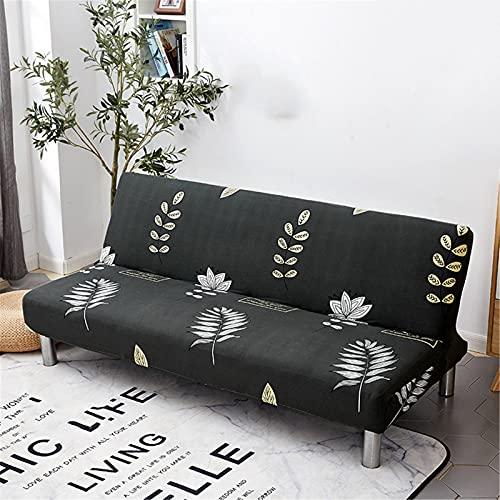 XJHKG Funda De Sofá Sin Brazos, 3 Plazas Plegable Elástica Cubierta Funda para Cubre Sofá Cama Clic Clac Protector para Futón Couch Bench (A-13,M(150-190cm))