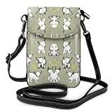 XCNGG bolso del teléfono Small Crossbody Cell Phone Purse Wallet with Credit Card Slots Lightweight Roomy Adjustable Shoulder Strap Baby Goats in Grey Crossbody Bags Handbags for Women