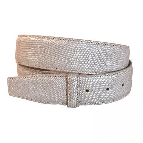 VMP Unisex Gürtel Glammy AME929 Metallic Leder verschiedene Farben, Größe:95;Farbe:Beige