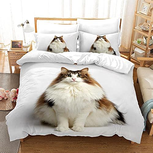 Bedclothes-Blanket Juegos de Cama de 90,SANDET Tres PISTO 3D TRIMENSIÓN TRIMENSIÓN TRIMENDIENDO Ropa de Cama de Gatito-6_200 * 200