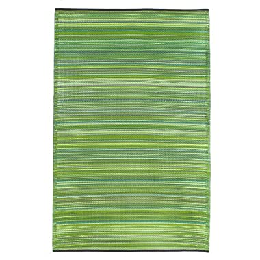 Fab Habitat Cancun Indoor/Outdoor Rug,  Green, (6' x 9')