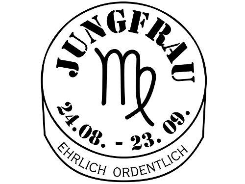 Wandtattoo-bilder® Sternzeichen Jungfrau Nr 3 Horoskop Sternbilder Wandsticker Wandaufkleber Farbe Hellgrau, Größe 40x30