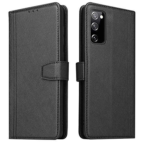 ZRANTU Handyhülle für Galaxy S20 FE Hülle Leder, [RFID Schutz] Klapphülle mit Kartenfach/Magnetverschluss Handytasche Schutzhülle Lederhülle Flip Hülle für Samsung Galaxy S20 FE (Schwarz)