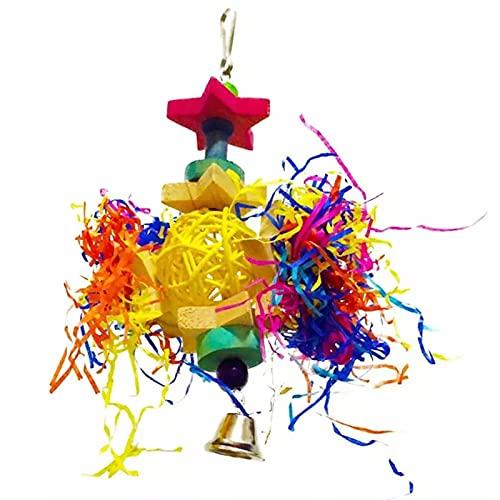 Juguete triturador de loros de aves Pájaro masticando juguete de juguete juguete loro jaula forrajeo de juguete colgando pájaros para periquitos loros ( Color : Multi-colored , Size : One size )