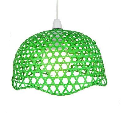 Lighting web company lanterne cône laquée, polie, en bambou vert