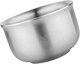 TOPBATHY Stainless Steel Serving Bowls Double- walled Insulated Noodles Salad Bowl Heavy Duty Metal Rice Cereal Bowls Unbr...