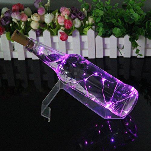 JAYLONG 5 Unids Tapón De Corcho Botella De Vino LED 7 Colores Luz De Cuerda Lámpara De Luz De Noche Creativa Ambiente Romántico Decoración del Partido