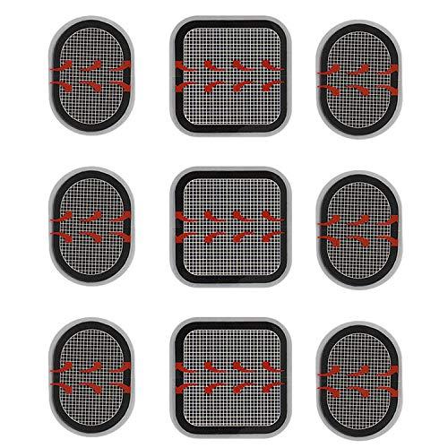 Winthai Slendertone Electrodes, Electrodes Slendertone, Remplacement Électrode Gel Pads Adhésif Ensemble Comprend 6 pcs Ovale + 3 pcs Forme Carrée Feuilles pour Corps Abdominale Tonification Système