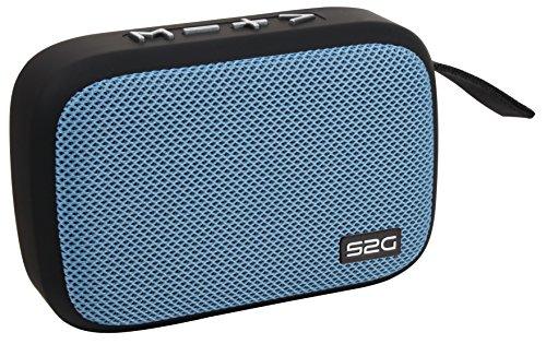 Sound2Go TRAVEL Bluetooth Lautsprecher mit TWS Funktion, FM-Radio, USB-Micro-SD, Freisprechfunktion, für unterwegs, Schwarz/Blau