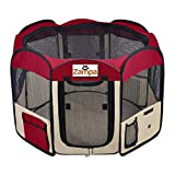 Zampa Portable Foldable Pet playpen Exercise Pen Kennel + Carrying...