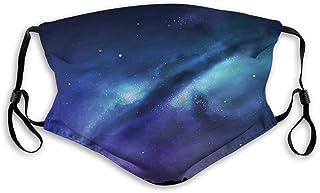 Vindtät aktiverad kolmask, mjölkig väg inspirerad nebulosa kluster galax fantastisk kosmos konstellation, ansiktsdekoratio...