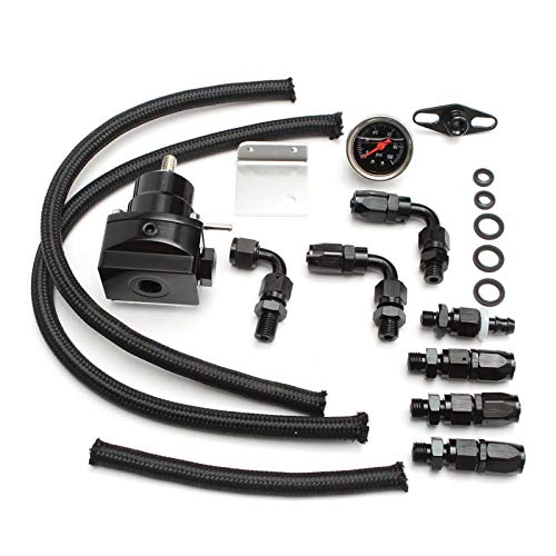 Racing Universal Racing Ajustable Presión de Combustible Regulador Kit Kit de Calibre 100PSI Línea de Aceite AN6 AN6 Manguera de Aceite para BMW Cooper R53 para Autos