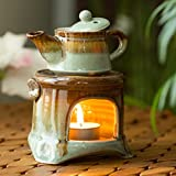 ExclusiveLane Studio Pottery Ceramic Home Fragrances Humidifiers Cum Scented Oil Breezy Aroma...