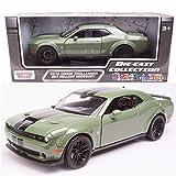 2018 Dodge Challenger SRT Hellcat Widebody Green 1/24 Diecast Model Car by Motormax 79350