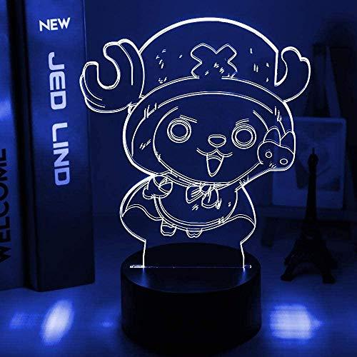 Luz nocturna 3D de una pieza para niños, 16 colores cambiantes lámpara de noche con mando a distancia lámpara de mesita de noche, regalos de cumpleaños para niños y adultos