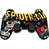 Skinit Decal Gaming Skin for PS3 Dual Shock Wireless Controller - Officially Licensed Marvel/Disney Marvel Comics Spiderman Design