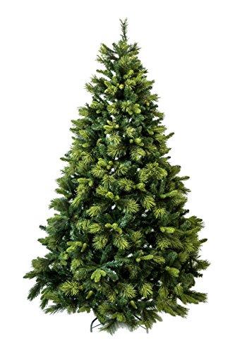 Albero di Natale 225cm - Super Folto, Unico esemplare con Floccatura Verde
