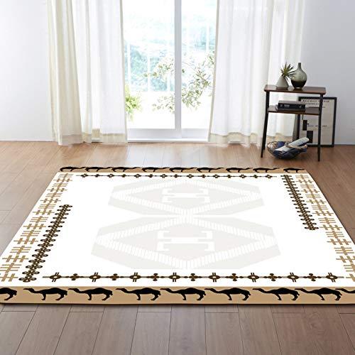 Alfombra de terciopelo suave impreso blanco centro floral alfombra de borde para la sala de estar decoración pasillo pasillo antideslizante zona alfombra niños guardería jugar estera,200 * 300cm