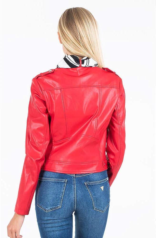 Guess jone jacket,giubotto in similpelle colletto alla coreana per donna,in similpelle W93L73 WAEI0