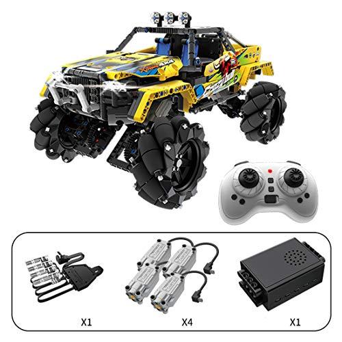 HYZM Technik Mecanum Wheel Geländewagen Bausteine, 1030 Stücke RC Buggy Offroader mit Licht und Ton, Kompatibel mit Lego Technic