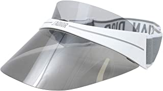 Christian Dior DiorClub1 HYM Visor Hat Women's Milk White/Grey Adjustable