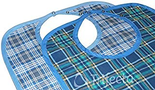 2 pack - Adult Bib - Large Extra Long, Reusable Machine Washable, Clothing, Mealtime Protector, Waterproof