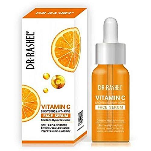 Dr Rashel Vitamin C Face Serum - Hyaluronic Acid , Brightening and Anti Aging - 1.69 oz