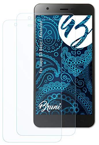 Bruni Schutzfolie kompatibel mit Jiayu S3 Basic/Advanced Folie, glasklare Bildschirmschutzfolie (2X)
