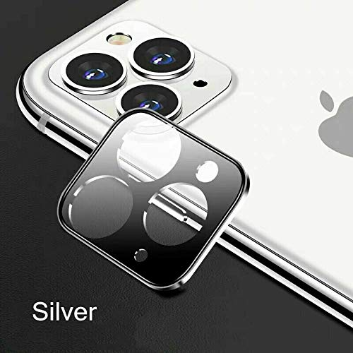 Metermall Electronics For Phone Screen Film For iPhone 11/11 Pro/11 Pro Max Full Cover Tempered Glass Camera Lens Screen Protector Silver for iPhone 11 Pro/Pro Max
