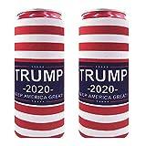 2pcs Neoprene Slim Beer Can Cooler Tall Stubby Holder Foldable Stubby Holders Beer Cooler Bags for 12oz Slim Energy Drink & Beer (National flag)