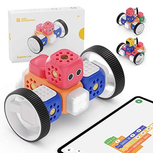 Robo Wunderkind Robots para niños a partir de 5 años — Juguete educativo premiado para enseñar a los niños y niñas a programar — Juguete robot compatible con LEGO más tres aplicaciones gratuitas