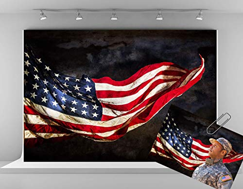 Kate 7x5ft American Flag Backdrops for Photography USA Independence Day Background 4th of July Patriotic Photo Backgrounds Muslin Fabric Studio Backdrop
