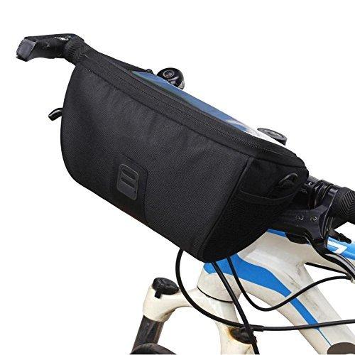 Broadroot Bolsa de manillar delantero para bicicleta, multifunción, para ciclismo, MTB, plegable,...